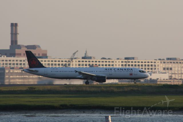 Airbus A321 (C-GIUF) - Air Canada A321 was a sub to Boston from Toronto. Logan does not usually see the AC A321