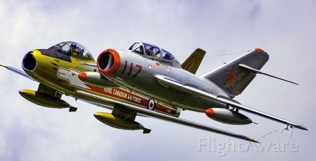 North American F-86 Sabre — - Photo take at Waterloom Airshow a few years ago, The F-86 is from Vintage Wings.