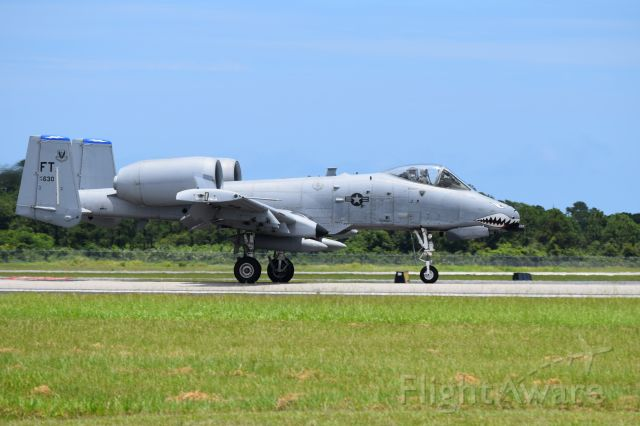 Fairchild-Republic Thunderbolt 2 (AFR78630) - 74FS WFFT A-10 Warthog landing at KVRB Vero Beach Airshow 25JUN16