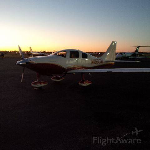 Cessna 400 (N153CM) - Sunset over Midland ... great night for a flight.