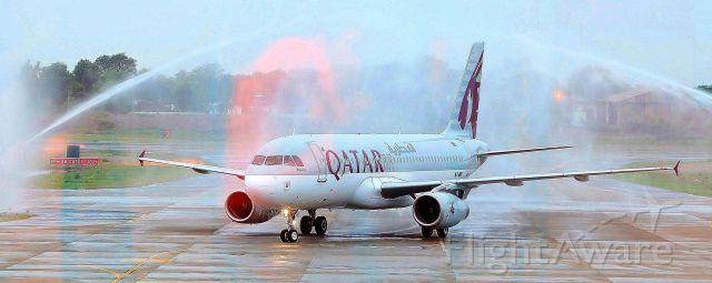 Airbus A320 (A7-ADF) - Qatar airlines first flight  doha --> multan .<br />Welcome to multan QATAR AIRWAYS