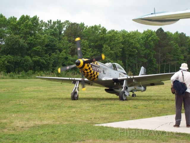 North American P-51 Mustang (46-3684) - A P-51 just before take off.