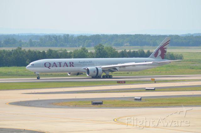 BOEING 777-300ER (A7-BAQ) - Taken June 12, 2017<br />Qatar Airways Boeing 777W<br />Airport: Washington Dulles International