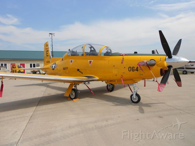 — — - I believe that this is a Hawker Beechcraft T-6A Texan II Turboprop Trainer. <br />          If it is rate this photo 5 stars.