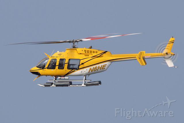 Bell 407 (N6HE) - Flying over in Playa del Rey, Los Angeles County, California.