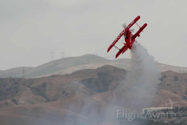— — - Sean D. Tucker performing at the 2013 Planes of Fame airshow in Chino, CA.