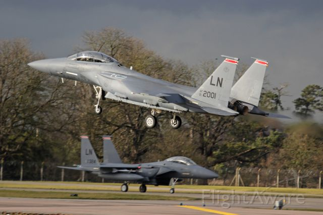 McDonnell Douglas F-15 Eagle — - F-15C at Lankenheath, UK.