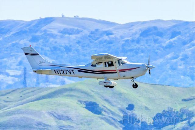 Cessna Skylane (N727VT) - Cessna 182S Skylane over Livermore Municipal Airport (CA). March 2021.