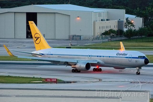 BOEING 767-300 (D-ABUM) - Rare visit by Condor retrojet 07/23/14.