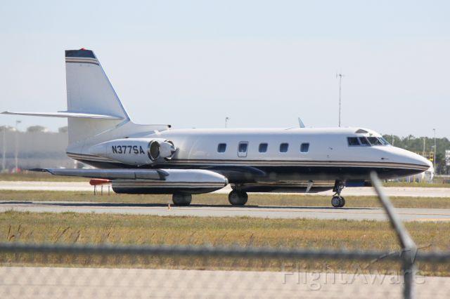 Lockheed Jetstar 2 (N377SA) - N377SA taxis for departure at Southwest Florida International Airport
