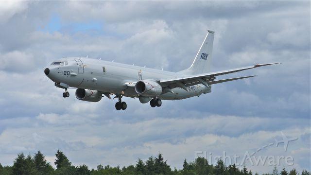 Boeing P-8 Poseidon (N393DS) - BOE201 (#IN 320) on final approach to runway 34L on 6/13/13. (LN:3702 cn 40610).