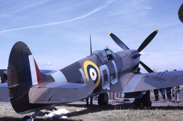 SUPERMARINE Spitfire (IQJ) - June 13th 1971 - Biggin Hill, UK - Mk IX Spitfire on display at this historic airfield.