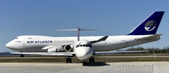 McDonnell Douglas MD-88 (N911DL) - Fitting that the 747 behind the Delta plane says Air Atlanta!