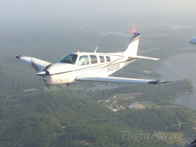 Beechcraft Bonanza (36) (N4203S) - Over Lake of the Ozarks