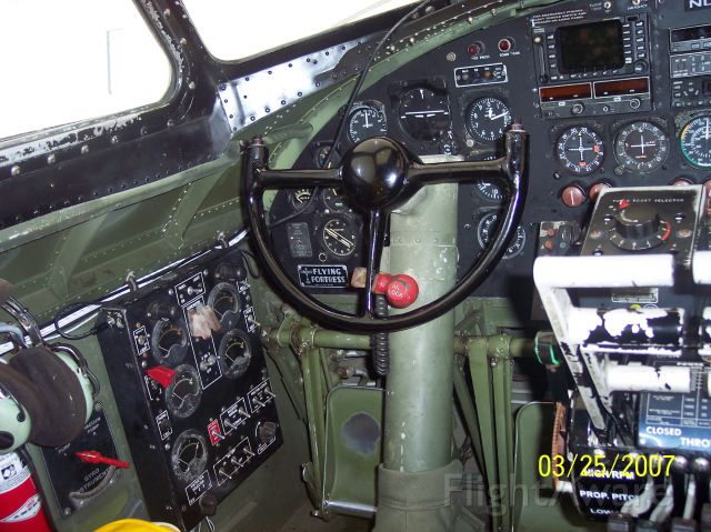 Boeing B-17 Flying Fortress — - Cockpit.