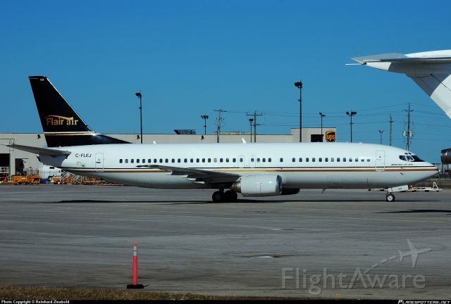 Boeing 737-700 (C-FLER) - Flair air Taxing at gate 2