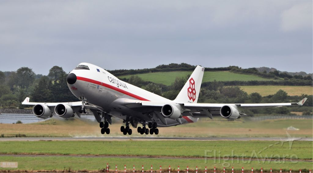 Boeing 747-400 (LX-NCL) - cargolux (retro livery) b747-4f lx-ncl dep shannon for luxembourg after paint by iac 14/7/20.
