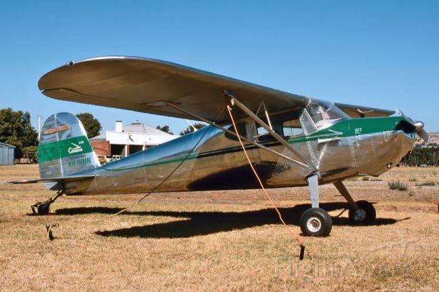 Cessna 140 (VH-HHN) - CESSNA 140 - REG : VH-HHN (CN 14708) - PARAFIELD AIRPORT ADELAIDE SA. AUSTRALIA - YPPF 11/2/1989