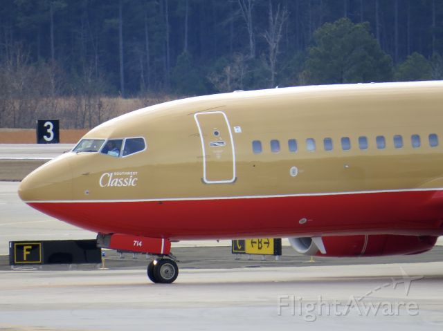 """Boeing 737-700 (N714CB) - Southwest Airlines 737-700 """"Southwest Classic"""" 12/28/13"""