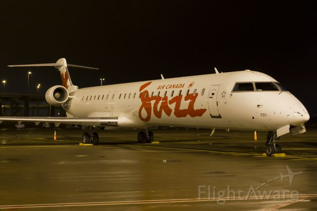 Canadair Regional Jet CRJ-900 (C-GJAZ) - Dec. 14, 2011.