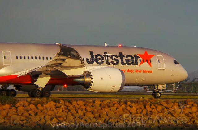 Boeing 787-8 (VH-VKK) - Jetstar (VH-VKK) B787-8 Taxiing To RWY 34L For A Departure To Honolulu