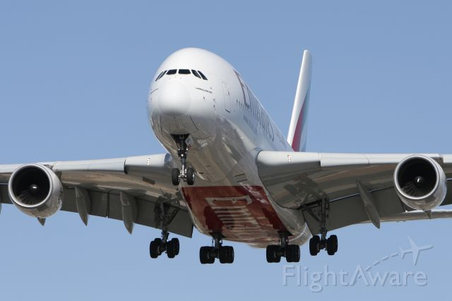 Airbus A380-800 (A6-EDD) - March 24, 2010 - approached Toronto