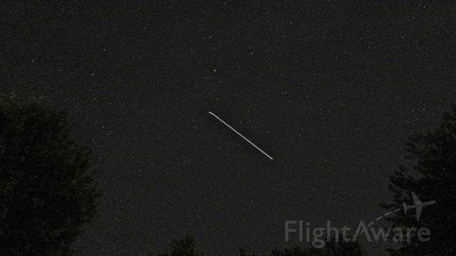 — — - The International Space Station passing overhead, northeastern Ohio, August 16, 2015