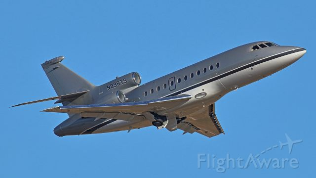 Dassault Falcon 900 (N898TS) - December 2, 2018, Nashville, TN -- One of Taylor Swift's Falcon Jet flock is departing off runway 20R. This photo was taken at the Vultee Blvd OBS Lot. Uploaded in low-resolution. Full resolution is available at cowman615 at Gmail dot com. cowman615@gmail.com