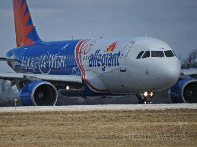 Airbus A320 (N218NV) - Allegiant Make a Wish Foundations themed A320