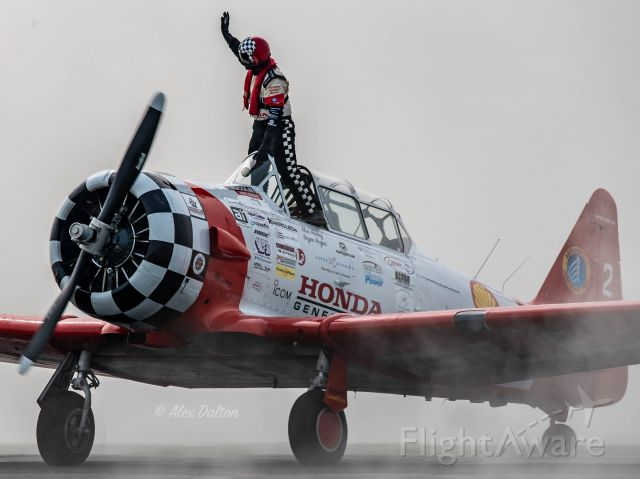 North American T-6 Texan (N3267G) - Aeroshell Aerobatics Team performing at the Greenwood Lake Airshow