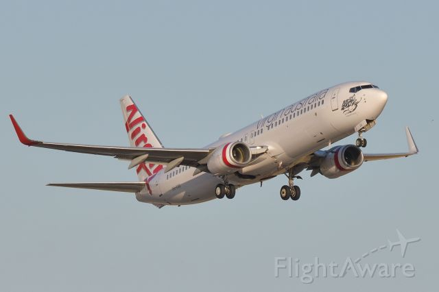Boeing 737-800 (VH-VUU) - Departed runway 23, 13 Jan 2020.