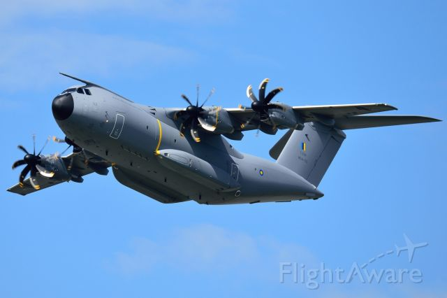 AIRBUS A-400M Atlas (M5402) - Performing a flypast at the Royal Malaysian Air Force airbase following its delivery flight from the Airbus Military factory in Seville.