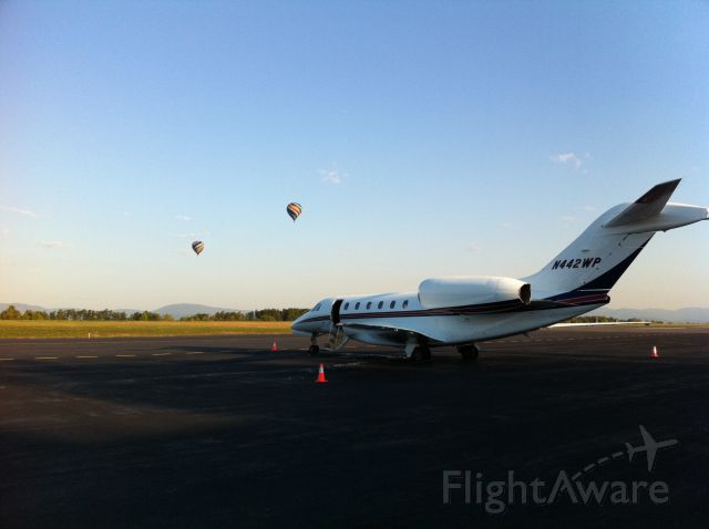 Cessna Citation X (N422WP) - Early morning in CHO with a nice background