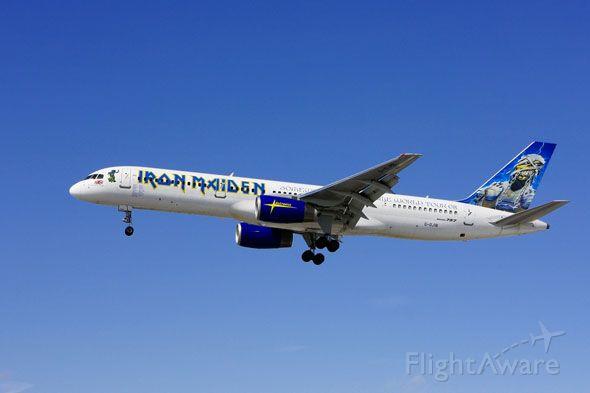 Boeing 757-200 (G-OJIB) - Iron Maiden Somewhere In Time World Tour 2008 combi plane