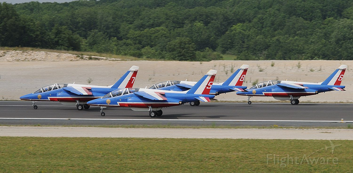 — — - FRENCH AIR FORCE DISPLAY IN JULY 2010