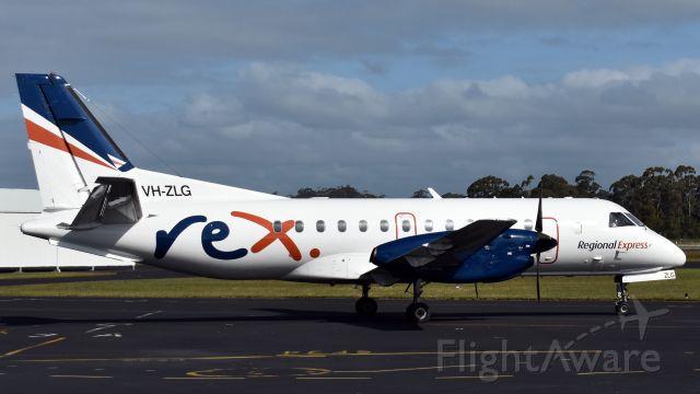 Saab 340 (VH-ZLG) - Regional Express SAAB 340B VH-ZLG (cn 375) at Wynyard Airport Tasmania. 30 October 2019.