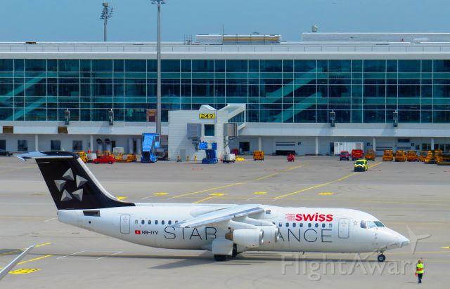 Avro RJ-100 Avroliner (HB-IYV) - Taxiing at Munich international