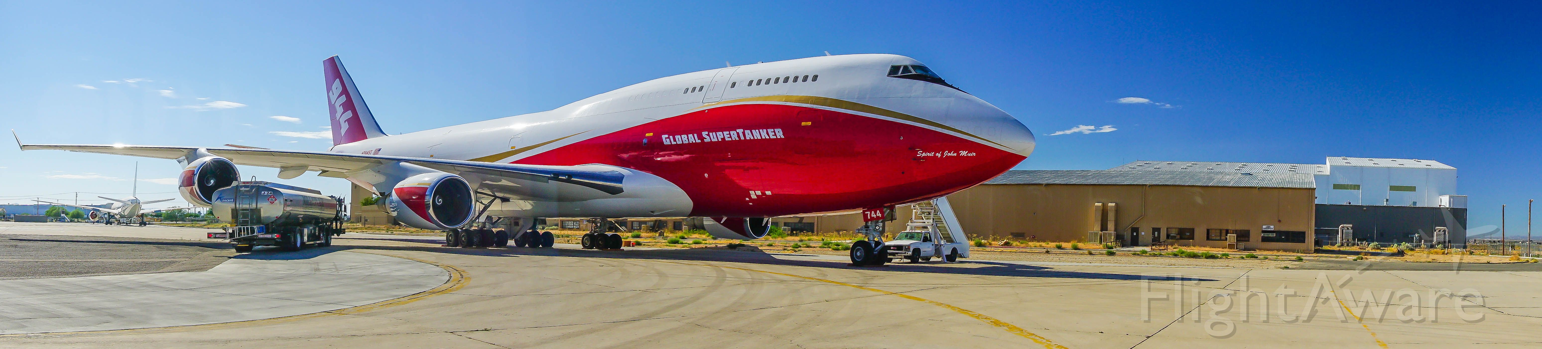 Boeing 747-200 (N744ST) - Standing by and ready to attack the next big fire