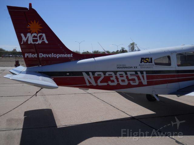 Piper Cherokee (N2385V) - Mesa Pilot Development Piper Warrior II, taken just before my flight in it