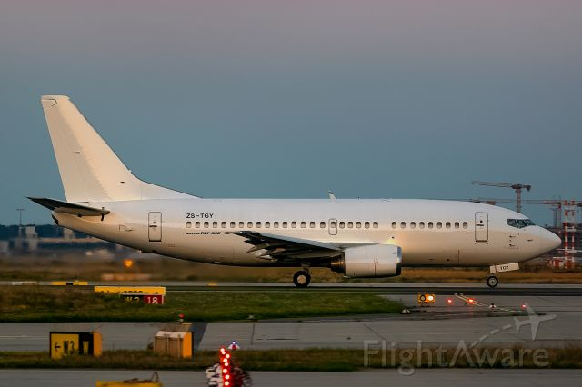 Boeing 737-500 (ZS-TGY) - First pic here at FA