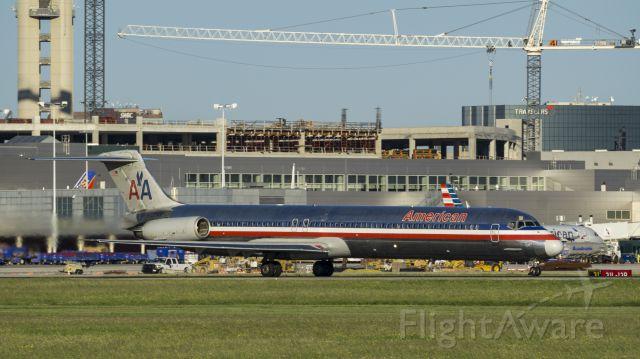 McDonnell Douglas MD-80 (N437AA) - Departing runway 4