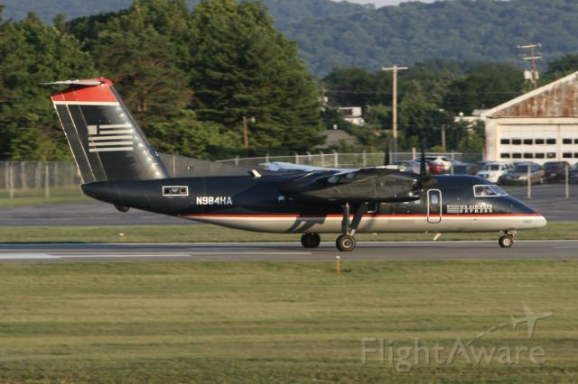 de Havilland Dash 8-100 (N984HA) - July 12, 2007 - leaving Allentown. PA