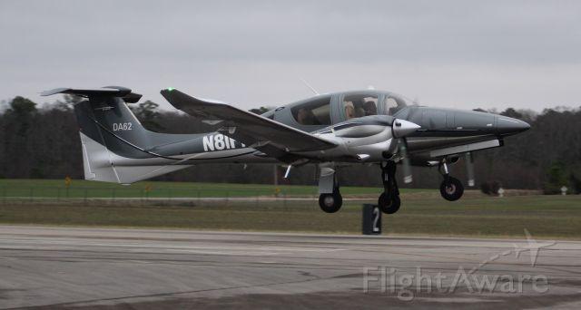 Diamond DA-62 (N81FP) - A Diamond Aircraft DA 62 departing Pryor Field Regional Airport, Decatur, AL under cloudy skies - January 15, 2020. (A little soft and best seen in Full)