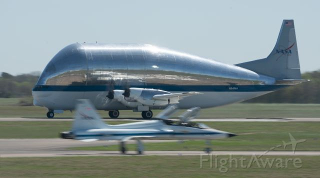 N941NA — - The B377 Super Guppy takes off from Ellington Field on 3/18/2021 for Wichita, Kansas