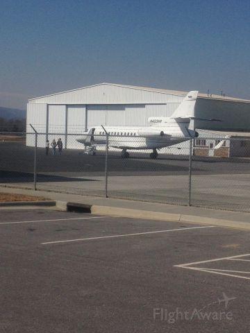 AMERICAN AIRCRAFT Falcon XP (N403HR) - A dassault Falcon preparing for takeoff in February.