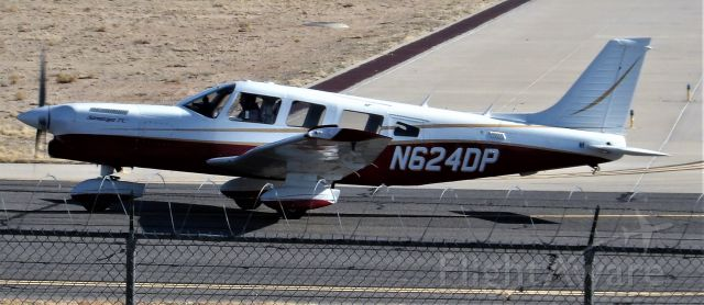 Piper Saratoga (N624DP) - Piper Turbo Saratoga N624DP heading from Cutter Aviation to Rwy 8 in Albuquerque