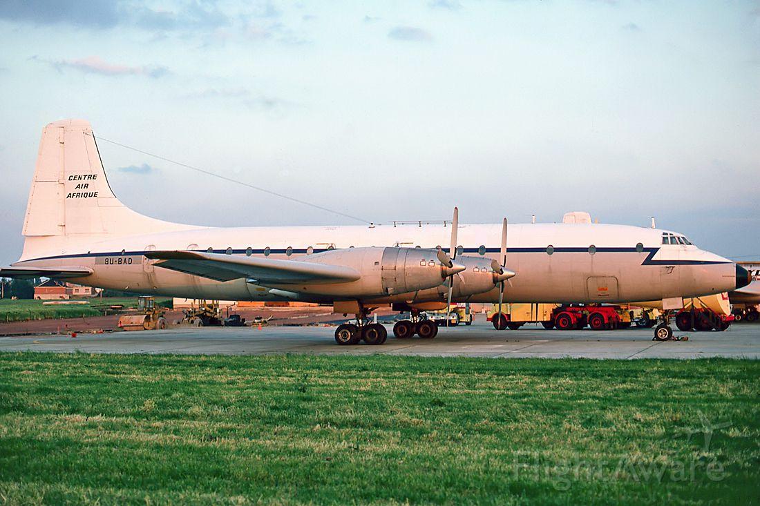 9U-BAD — - Danny Tanner Collection pic at Gatwick 18 8 1977. Bristol Britannia Cn 253 13454.