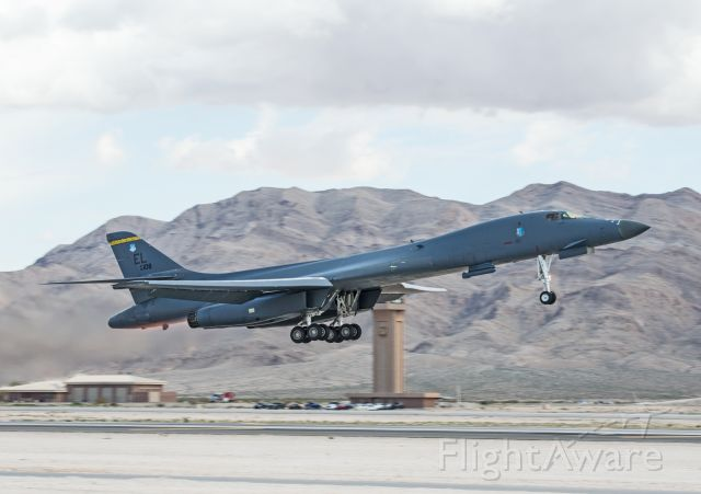 86-0108 — - 37 Bomb Squadron B-1B launching on a Red Flag sortie.