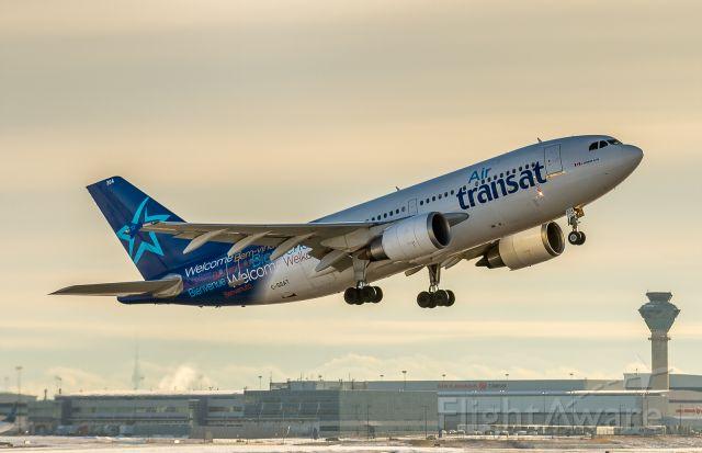 Airbus A310 (C-GSAT) - Air Transat 372 lifts off for Montego Bay, Jamaica