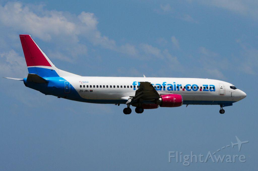 BOEING 737-400 (ZS-JRL) - Fly Safair